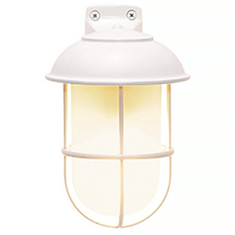 玄関照明 外灯 照明 ガーデンライト ランプ 門灯 センサなし エクステリアライト 外灯 照明 アンティーク風 レトロ おしゃれ 玄関照明 外灯 センサー無し ブラケット LED くもりガラス マリンライト 白塗装