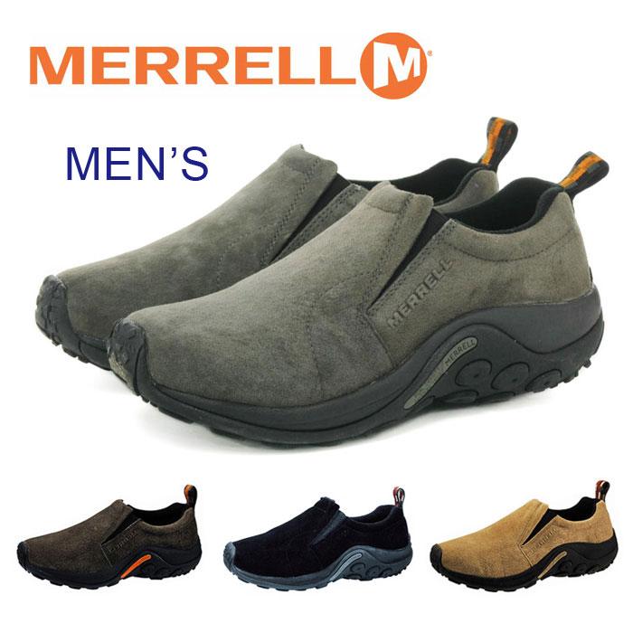 大量揃っています メレル ジャングルモック スニーカー メンズ シューズ アウトドア スリッポン スエード 靴 キャンプ フェス 黒 グレー 茶 MERRELL JUNGLE MOC 送料無料