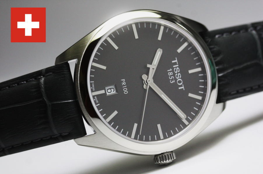 スイス製Tissot【ティソ】PR100クォーツ腕時計T101.410.16.441.00