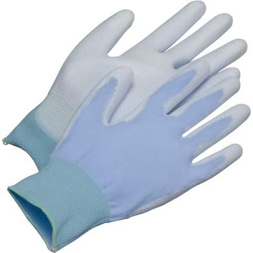 川西工業 ウレタン背抜き手袋 ブルーM 10双×10パック