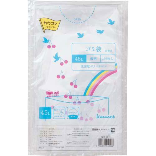カウネット 低密度ゴミ袋エコ厚 詰替 透明45L 120P×8 | カウモール ゴミ袋 ごみ袋 レジ袋 ビニール袋 日用品 生活雑貨 大掃除 掃除用品