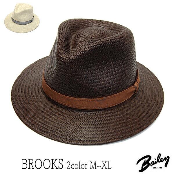 """帽子 アメリカ""""Bailey(ベイリー)""""パナマ中折れ帽<BROOKS>[ハット] 【あす楽対応】 [大きいサイズの帽子アリ]【コンビニ受取対応商品】SS17S1"""