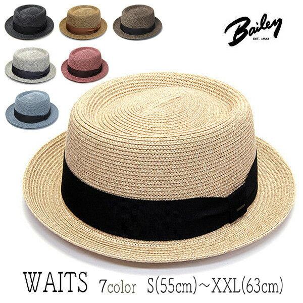 """帽子 アメリカ""""Bailey(ベイリー)""""ブレードポークパイハット<WAITS>【あす楽対応】 [大きいサイズの帽子アリ]【コンビニ受取対応商品】SS17S1"""