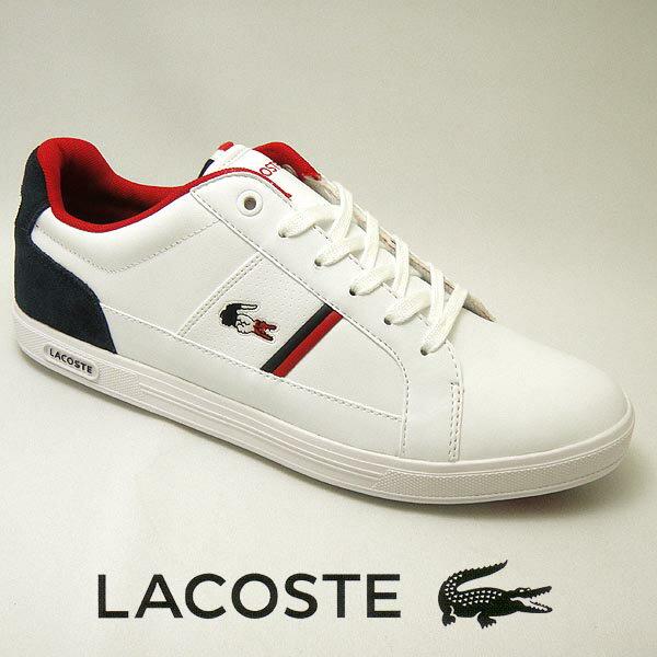 ラコステ ヨーロッパ メンズレザースニーカー EUROPA 317-1 ホワイト/ネイビー 白/紺 lacoste SPM0012-042 靴シューズ【送料無料】