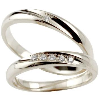 結婚指輪 マリッジリング ペアリング ダイヤモンド シルバー 925 結婚記念リング 2本セット メンズ レディース 名入れ【楽ギフ_包装】0824楽天カード分割【コンビニ受取対応商品】
