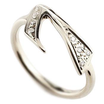 [送料無料]数字 リング ナンバーリング プラチナ 指輪 ダイヤモンド 7 数字 レディース 【楽ギフ_包装】0824楽天カード分割【コンビニ受取対応商品】