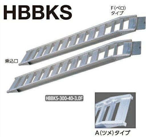 ハセガワ アルミブリッジ HBBKS-300-40-4.0(全長3.17m)【2本1セット/F(ベロ)タイプ】【メーカー直送品/代引不可】【※個人宅お届けは運賃別途見積の場合がございます】