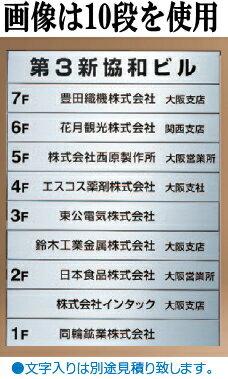 新協和 テナント案内図 SK-300SDN-5 H418×W606×D15 段数5 無地【文字は別途費用】【メーカー直送品のため代引き不可】