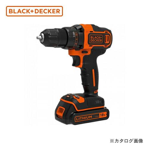 ブラックアンドデッカー BLACK&DECKER BDCDD186K-JP 18V ドリルドライバー