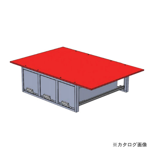 【直送品】デンサン DENSAN バンキャビネット(3列引き出し) SCT-F07