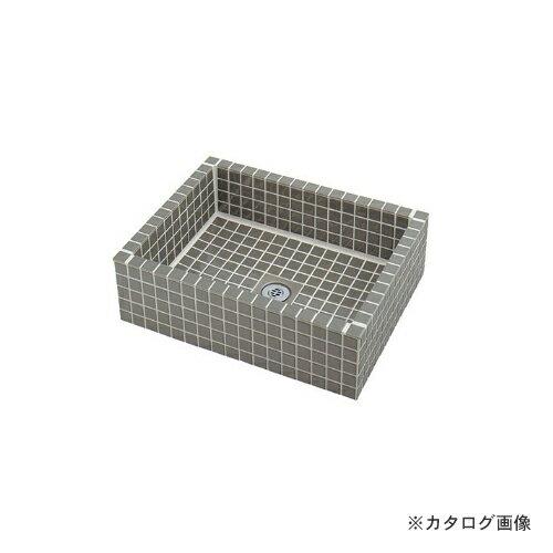 カクダイ KAKUDAI 水栓柱パン(タイル張り・灰緑) 624-971