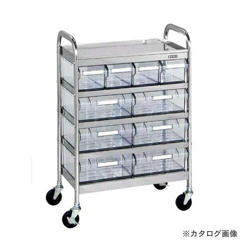【直送品】サカエ SAKAE CSワゴン透明ボックス付 CSD-46RSU