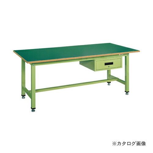 【直送品】サカエ SAKAE 中量作業台KTタイプ深型キャビネット付 KT-1875F1