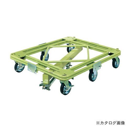 【直送品】サカエ SAKAE 自在移動回転台車 重量型 センターベース付 RH-2KG