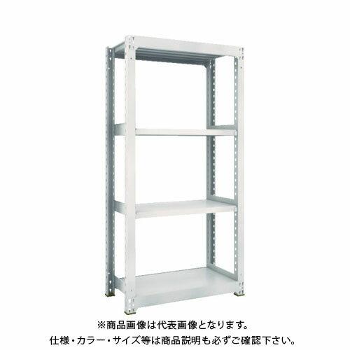 運賃見積り 直送品 TRUSCO M5型中量棚 900X471XH1800 4段 単体 ネオグレ M5-6354:NG