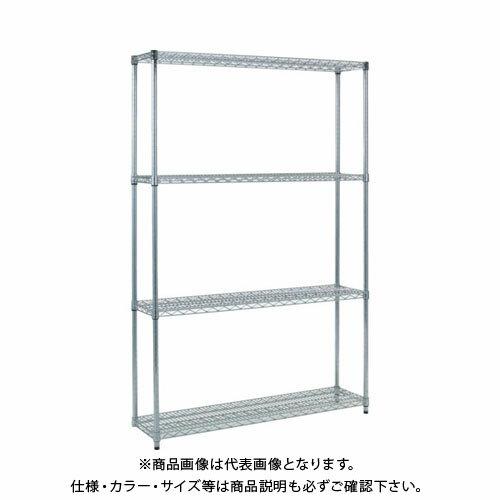 個別送料1000円 直送品 TRUSCO スチール製メッシュラック W1205XD305XH1838 4段 TME-6434