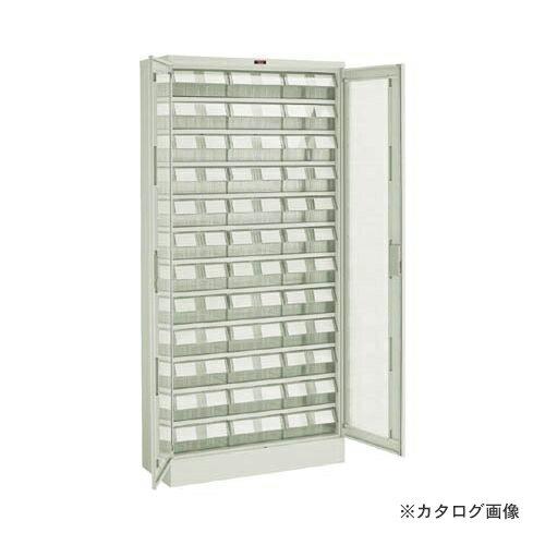個別送料1000円 直送品 TRUSCO バンラックケース L型 両開き扉 透明引出大X36個 透明 T611L-N36L:TM