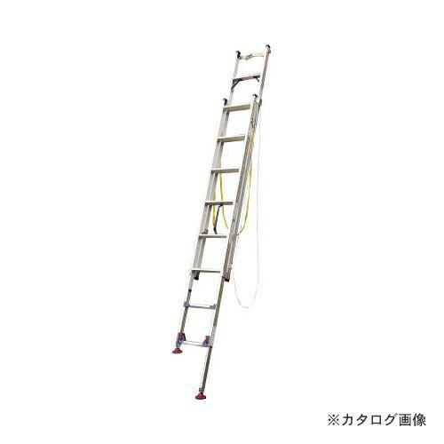 運賃見積り 直送品 ピカ 脚アジャスト式2連はしごLGW型電柱支え・巻付ベルト付属4.2~4.6m LGW-44GD