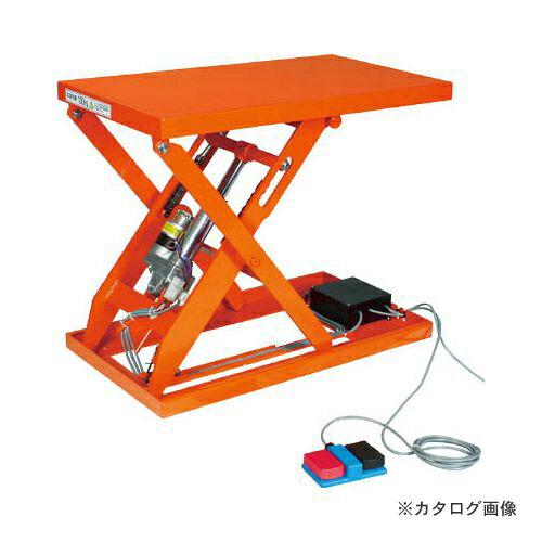運賃見積り 直送品 TRUSCO テーブルリフト100kg(電動Bねじ式100V)400×650mm HDL-W1046V-12