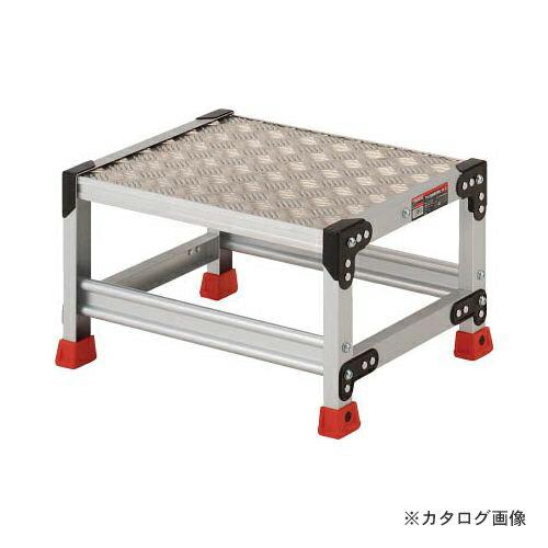 個別送料1000円 直送品 TRUSCO 作業用踏台 アルミ製・縞板タイプ 天板寸法500X400XH300 TSFC-153