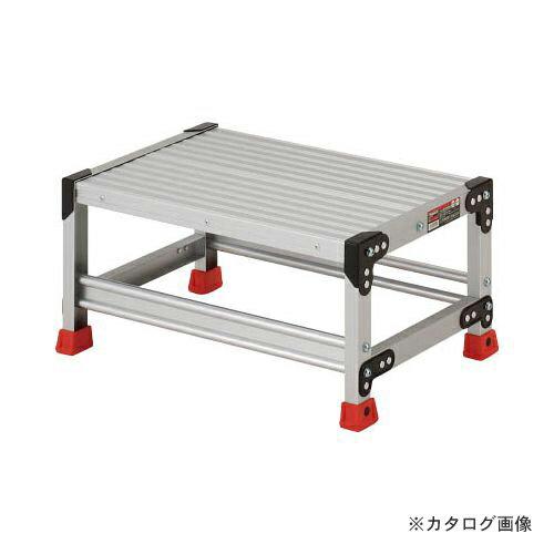 個別送料1000円 直送品 TRUSCO 作業用踏台 アルミ製・高強度タイプ 1段 TSF-163