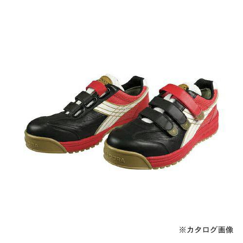 高級感 ディアドラ DIADORA 安全作業靴 ロビン 黒/白/赤 26.0cm RB213-260