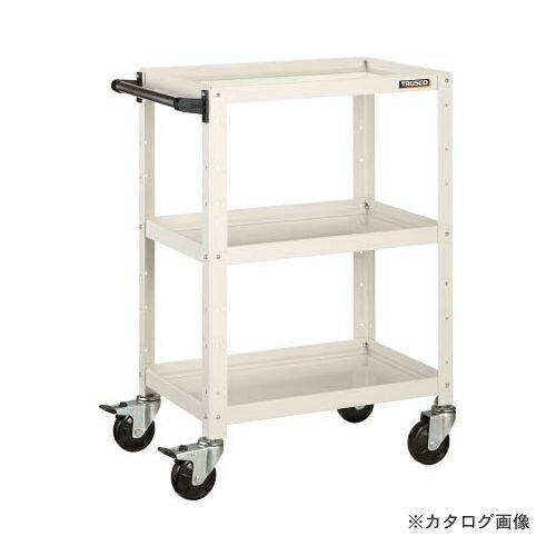 個別送料1000円 直送品 TRUSCO バーディワゴン 600X400 引出付 W色 BDW-963V-W