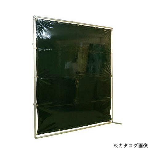 【個別送料2000円】【直送品】 吉野 遮光フェンスアルミパイプ 2×2 接続固定 ダークグリーン YS-22JF-DG