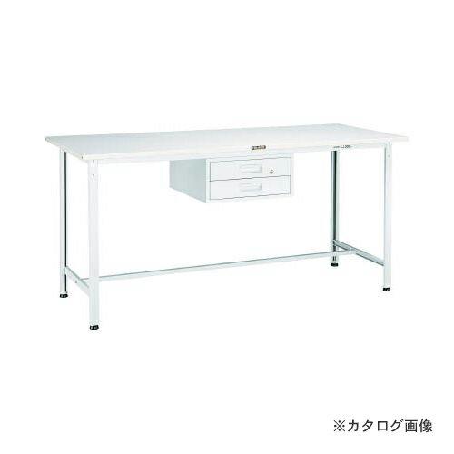 運賃見積り 直送品 TRUSCO HRAE型作業台 900X600XH900 2段引出付 W色 HRAE-0960F2 W