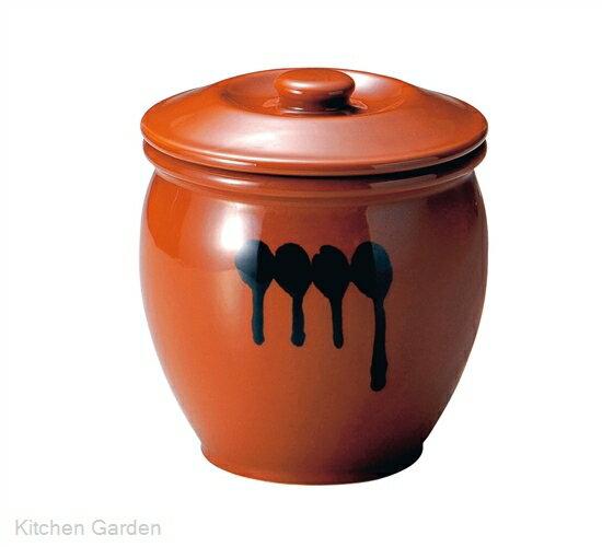 陶器 蓋付半胴かめ 8号 14.4リットル .【漬物容器】