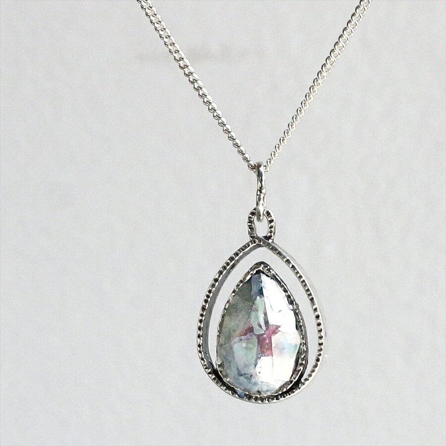 ローマンガラスカンパニー/ネックレス・ペンダント The Roman Glass Companyイスラエル出土銀化古代ガラスとシルバー