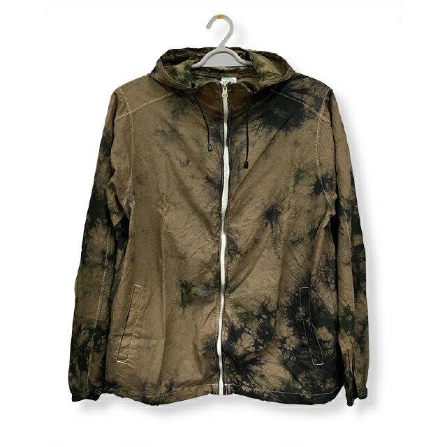 ナイロンフルジップジャケット[カラー:迷彩]ムラ 染め パーカーウィンドブレーカー