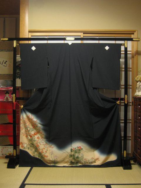 お買い得な黒 留袖 四季の花々【着物】【smtb-k】【ky】