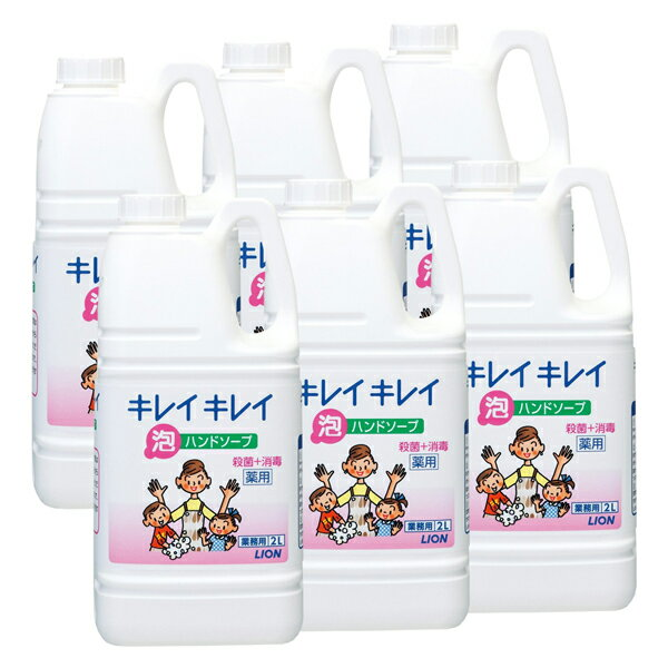 【手洗い洗剤】キレイキレイ薬用泡ハンドソープ2L×6本(ケース販売)