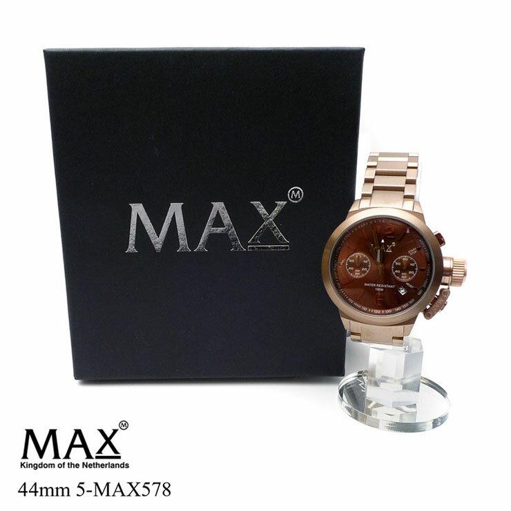 送料無料 腕時計 メンズ ブランド 新品 MAX XL WATCHES 5-MAX578 マックスエックスエルウォッチ 時計 クロノグラフ メタルベルト 10m防水
