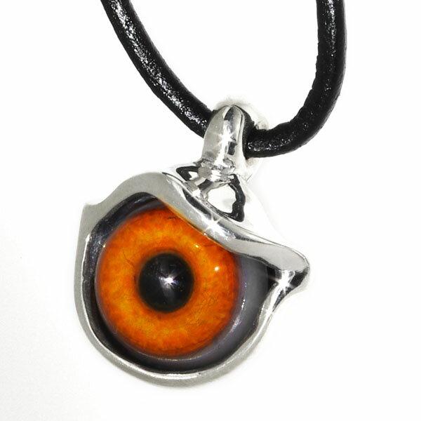 Crazy Pig Designs(クレイジーピッグ) ボールアイペンダント/オレンジ【革紐付】 Ball Eye #539