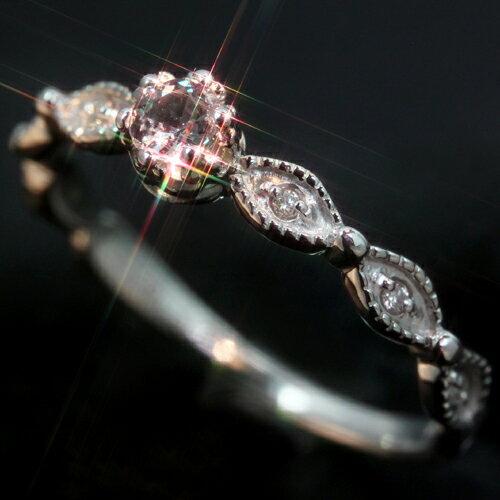 エメラルドマイン社ブラジル産アレキサンドライト ダイヤモンド カラーゴールド リング レディース 指輪・リッカルディ 華奢 シンプル ファッションリング 可愛い ゆびわ ジュエリー
