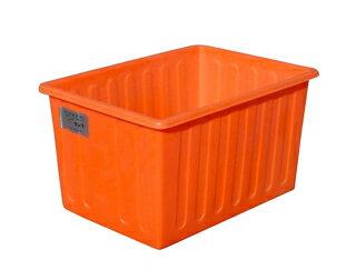 【貯水タンク-大型容器】モリマーサム樹脂 OPEN 角型容器 200L オレンジ SPE-200 <大型・重量商品>