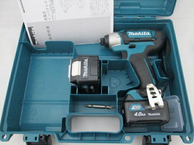マキタ スライド式10.8V 充電式インパクトドライバ TD110D 本体+【4.0Ah】バッテリBL1040B×2個+ケース
