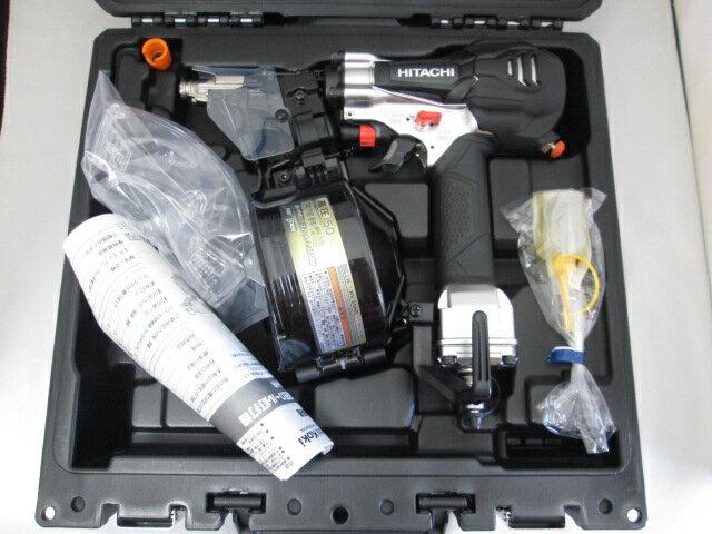 [1台限定]日立 50mm 高圧ロール釘打機 NV50HR(NGK)[銀鏡] パワー切替機構なし [エア工具]