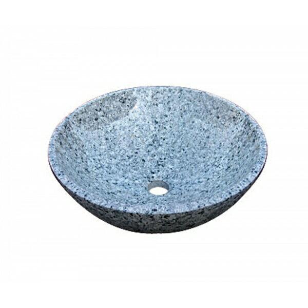 オンリーワン 石の水鉢 ブルー吹雪  EC3-003 【水栓柱・立水栓 水受け(パン)】