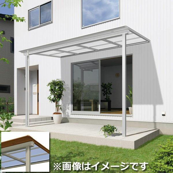 三協アルミ シャルレ 1階用 木調色枠 4間×7尺 関東間 ロング柱 熱線遮断ポリカ 600タイプ