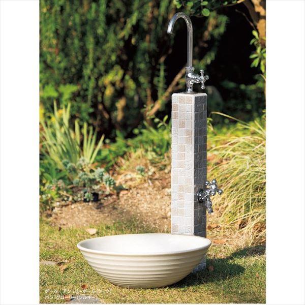 トーヨー アシュリーポールセット 4 [ポール+パン 立水栓2点セット] シック/シルキー