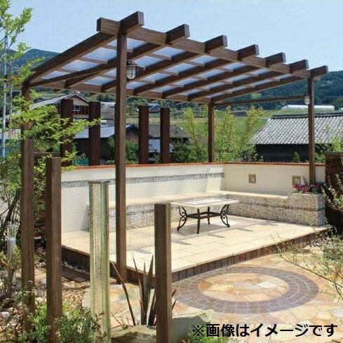 タカショー ポーチガーデン Jポーチ(独立タイプ) 3間×6尺 クリアマット