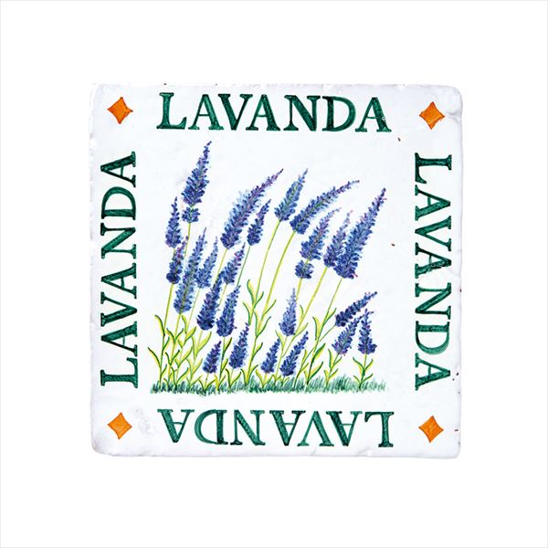 オンリーワン スペイン壁面化粧タイル ティピカルスパニッシュデザインタイル(手描き) ラベンダー  HJ2-ALTLV 1枚入り