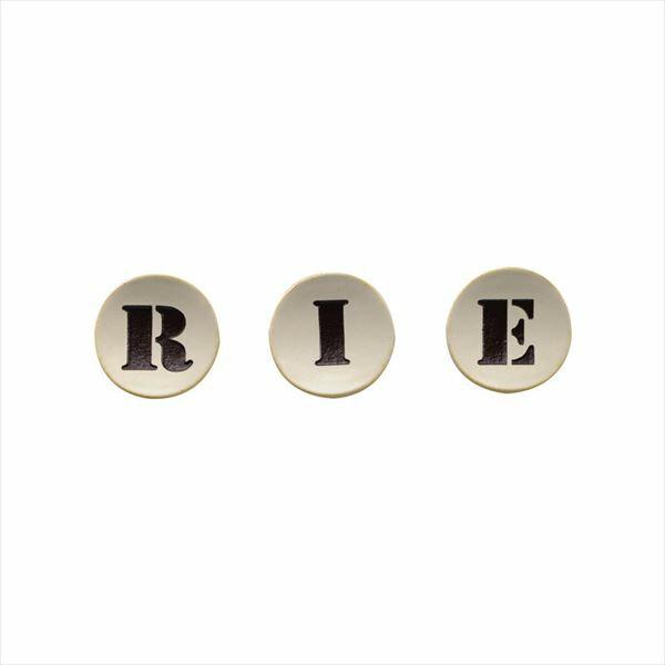 オンリーワン ルーノ Aタイプ 1~3文字基本価格 HS1-LNA13 タイル:アイボリー/文字:チョコレート ※3文字までの金額。4文字以降は追加金額が必要となります。