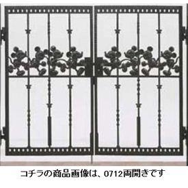 リクシル 新日軽 ディズニー門扉 角門柱式 ミッキーC型 0812 両開き 『リクシル』 ブラック