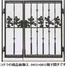 リクシル 新日軽 ディズニー門扉 角門柱式 ミッキーC型 0410+0810 親子開き 『リクシル』 ブラック
