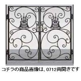 リクシル 新日軽 ディズニー門扉 角門柱式 プリンセスA型(シンデレラ) 0812 両開き 『リクシル』 ブラック