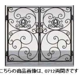 リクシル 新日軽 ディズニー門扉 角門柱式 プリンセスA型(かぼちゃの馬車) 0610 両開き 『リクシル』 ブラック